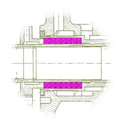 Working scheme of a pump stuffing box